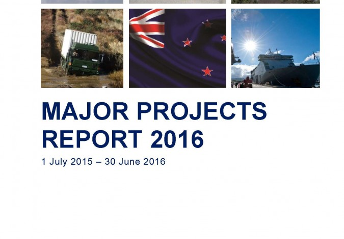 Major Projects Report 2016 Volume 1