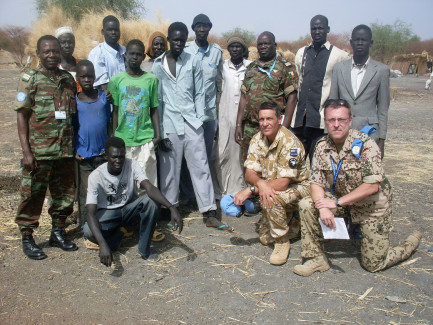 NZDF cooperating with other nations in the Sudan