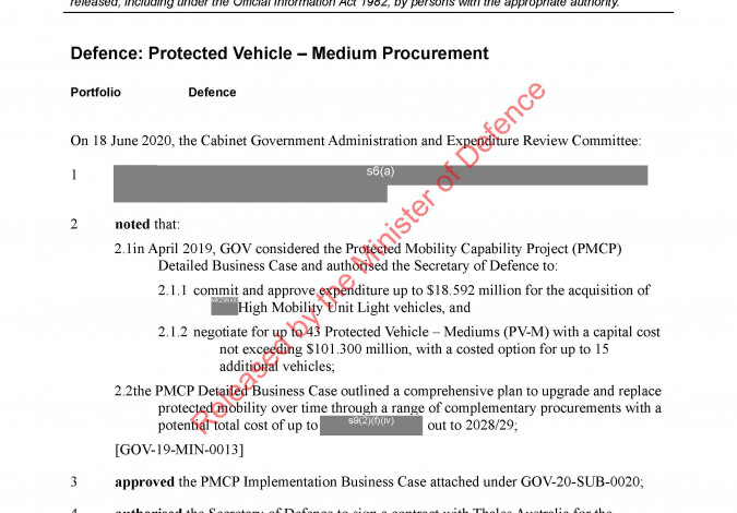 Cover image Protected Vehicle Medium