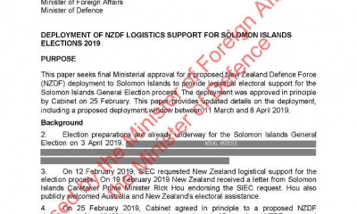 Support to 2019 Solomon Islands Elections